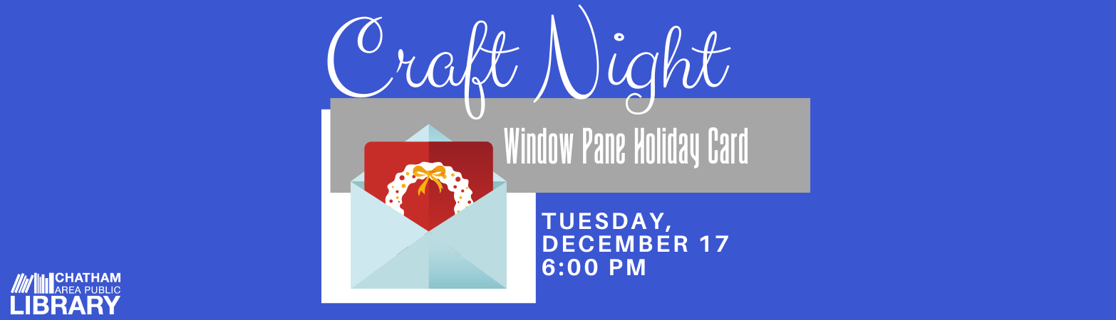 Advertisement for Craft Night on December 17 at 6:00 PM