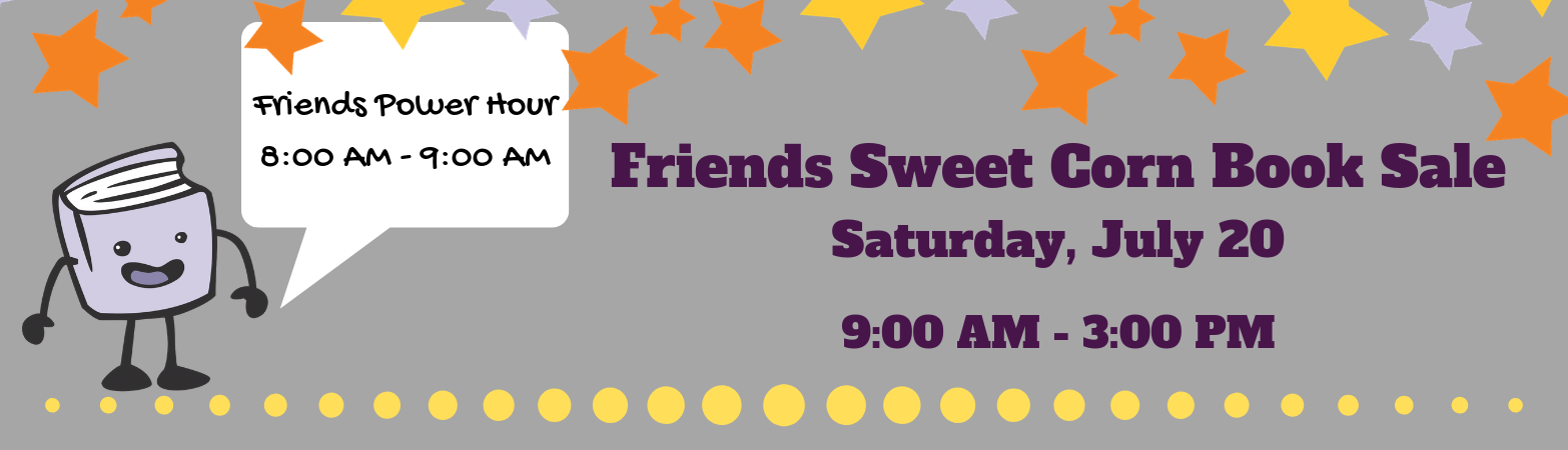 2019 Friends Sweet Corn Book Sale