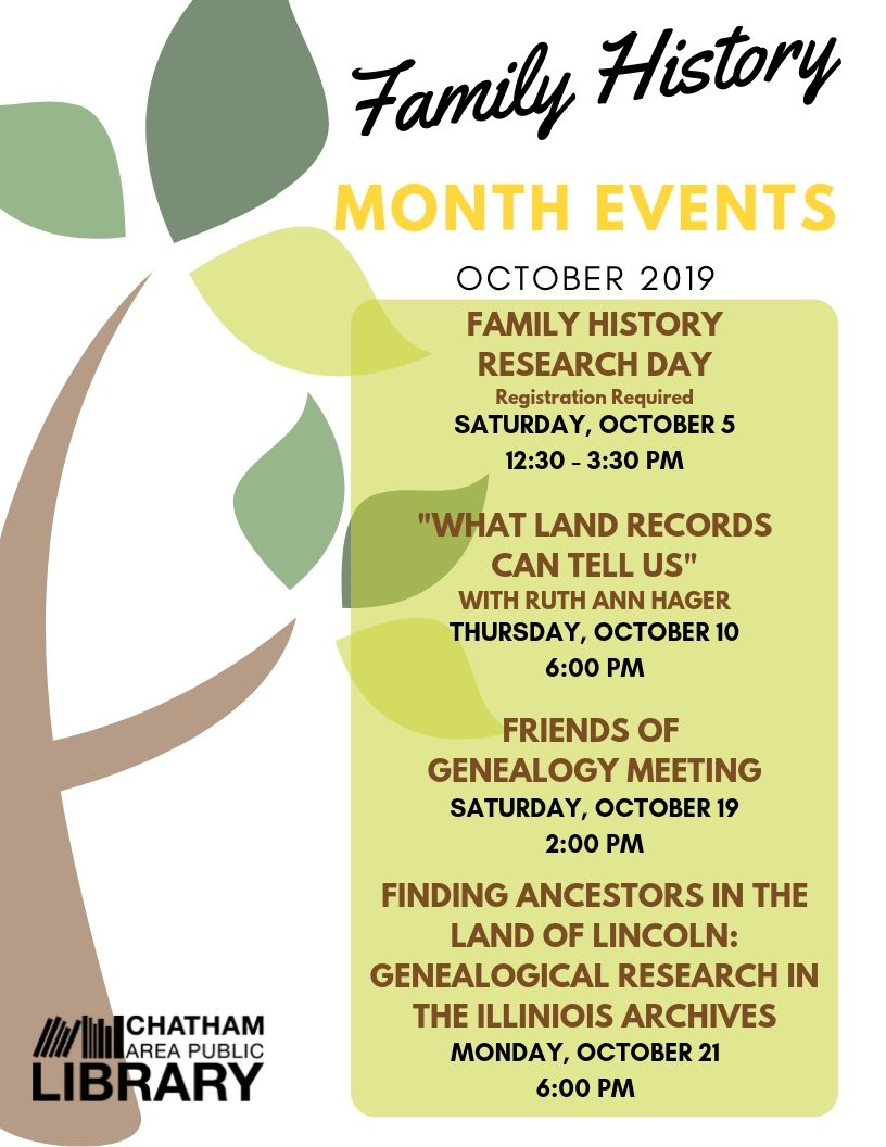 A list of Family History Month Activities